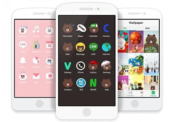 LINE、スマホ画面着せ替えアプリ「LINE DECO」公開、ユーザーの独自アイテムも募集
