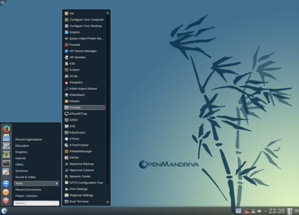 OpenMandriva Lx 2014.0 インターフェイス