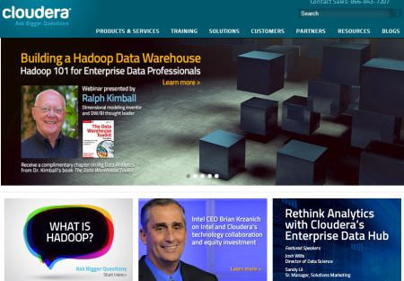 Intel が Cloudera の筆頭株主に、IA 向け Hadoop を開発