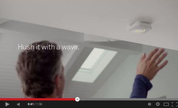手を振ると通知を止められる機能 Nest Wave