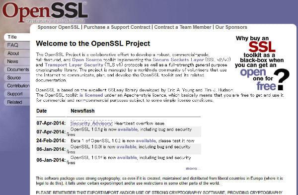 通信の安全をになう「OpenSSL」に重大なバグ