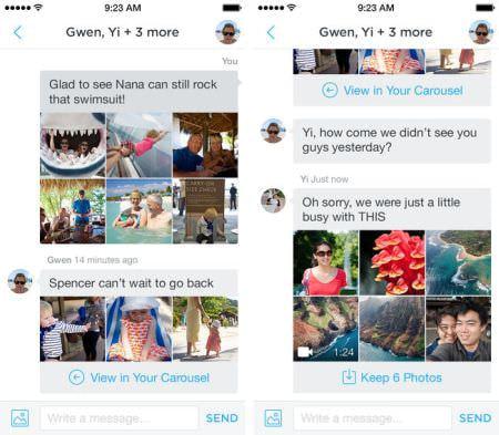Dropbox、 LINE 風メッセージ機能を備えた写真アプリ「Carousel」 公開