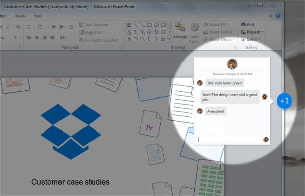 「Harmony」ツールのイメージ(出典:Dropbox for Business 公式ブログ)