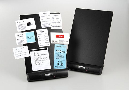 名刺やメモを静電気で吸い付けるボード「ラッケージ」、キングジムが発売