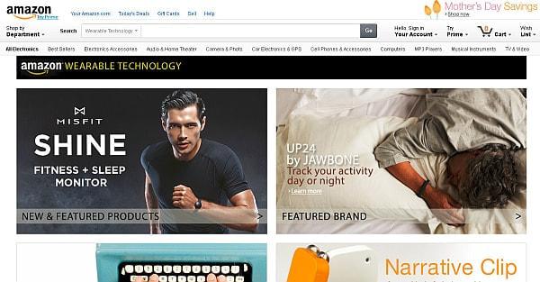 Amazon.com、米国向けウェアラブル端末専門オンラインストアをオープン