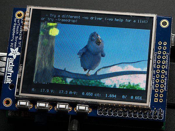 Adafruit 製 Pi TFT タッチスクリーン