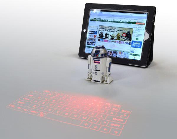 スターウォーズの日に R2-D2 の投影式キーボードをラナが販売