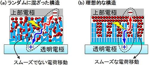 産総研、効率よく電荷が流れる有機薄膜太陽電池を開発、光電変換効率が約2.2倍向上