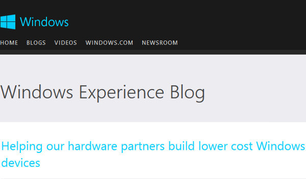 MS、Windows の無料化を拡大、250ドル以下の端末も対象に