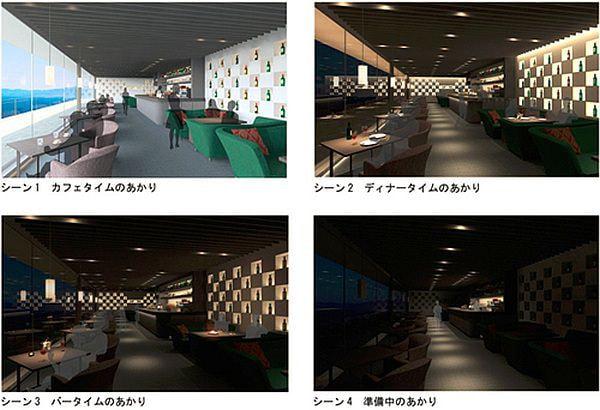 4パターンの明るさで部屋の表情は様々に変化する