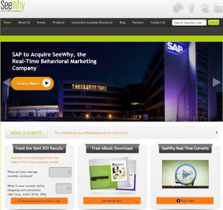 SAP、リアルタイム行動マーケティング会社 SeeWhy の買収を計画