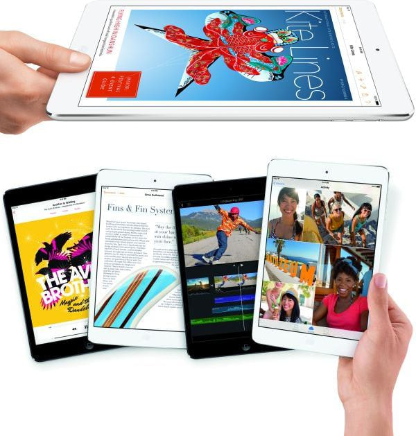 上:iPad Air 下:iPad mini Retina (出典:Apple)