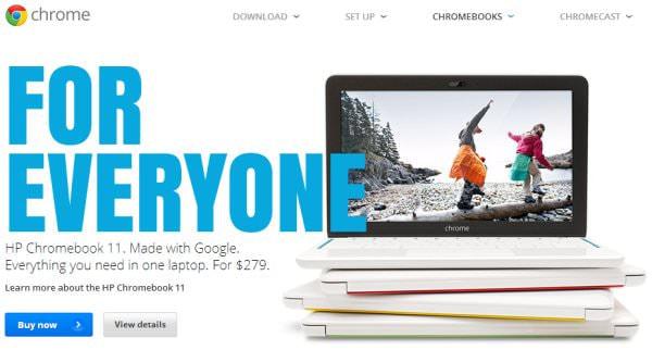 Google、「Chromebook」をメキシコ/チリ/スペインなど9か国で発売、日本は見送り