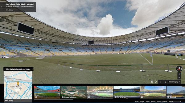 Google、サッカーW杯全試合会場のストリートビューを公開