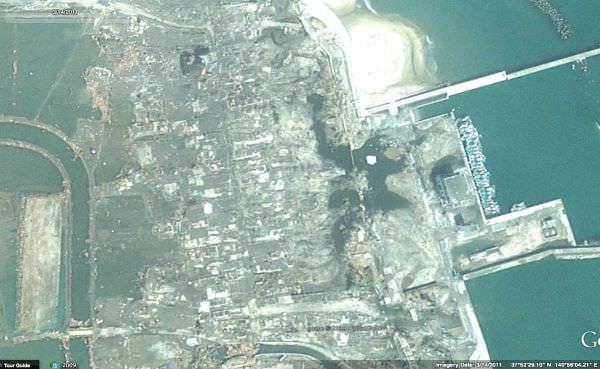 Google、3年後の福島県相馬郡などの航空写真をアップデート