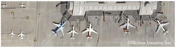 SkySat-1撮影画像例(北京空港、中国2014年3月13日撮影)