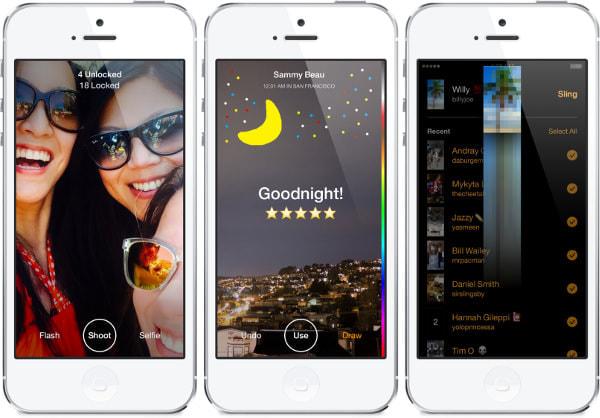 Facebook、自分の写真と引きかえに相手の写真が見られるメッセージアプリ「Slingshot」