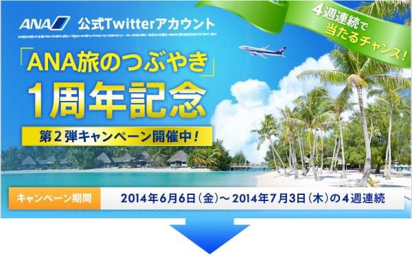 ANA が Twitter で「国内線1日乗り放題プレゼント」キャンペーンを展開中