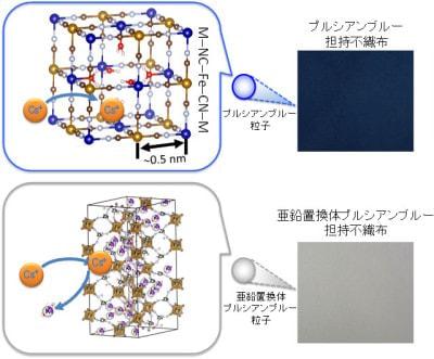 セシウムの取り込み構造の概念図