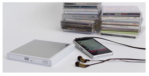 PC 不要、スマホに CD 楽曲を直接取り込む外付けドライブ、ロスレス音質に対応--ロジテック