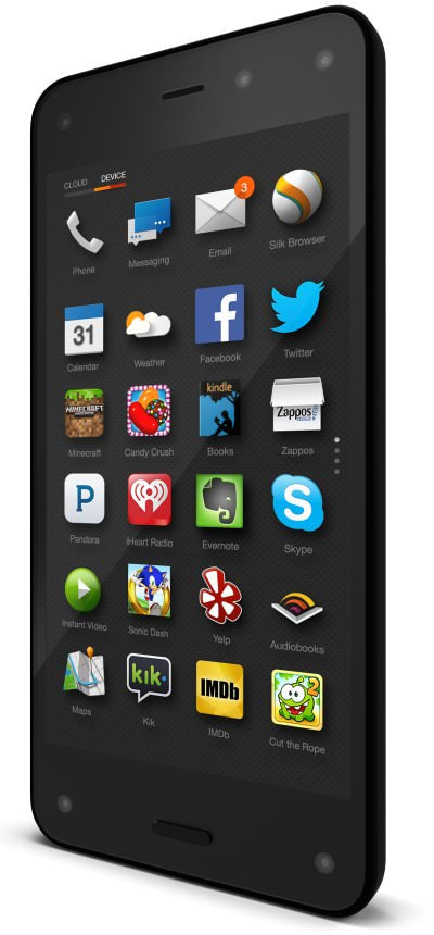 """Amazon.com がスマホ「Fire Phone」を7月25日発売、""""スマートお買い物端末""""としての機能が特徴"""
