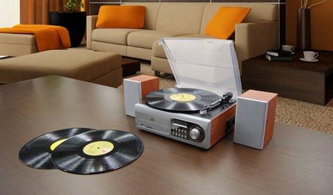 レコード/カセットを簡単にデジタル化できる「X-STYLE マルチレコードコンポ EB-XS001LP/ EB-XS100LP」