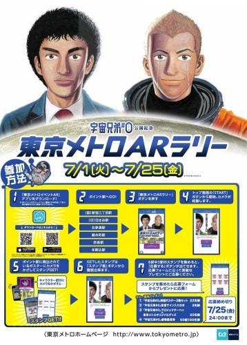 「宇宙兄弟#0」×東京メトロ、地下鉄駅を巡る AR ラリー開催