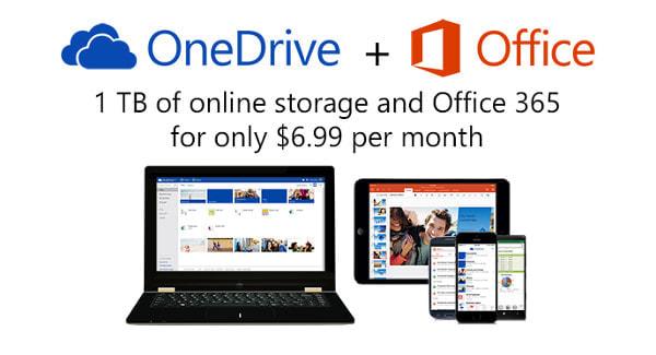 Office 365 の全プランに 1TB の容量が追加