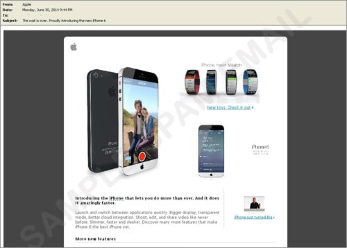 トレンドマイクロ、iPhone 6の噂に便乗したスパムメールを確認
