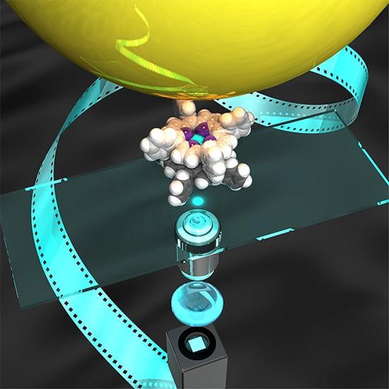 1ナノメートルの人工分子マシン1個を「見て、触る」ことに成功