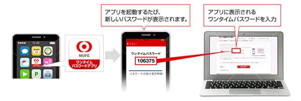三菱東京 UFJ 銀、「使い捨てパスワード」生成するスマホアプリ公開へ、トークンも用意