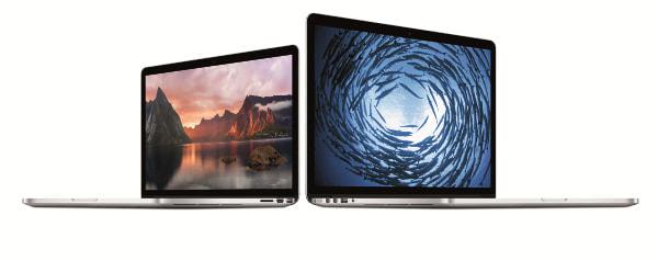 MacBook Pro Retina モデルが改良、非 Retina モデルは10万円台に