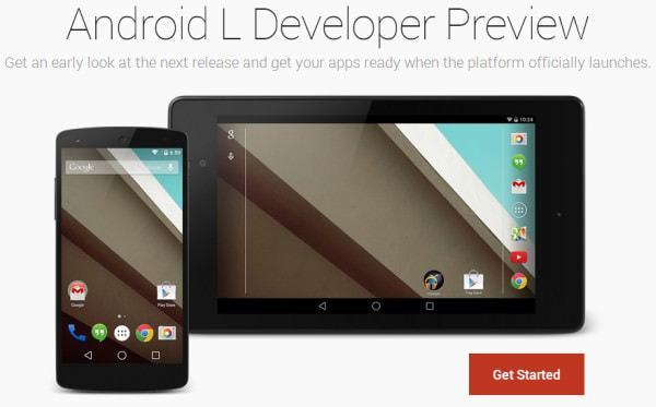 Android L 開発者向けプレビュー版 (出典:Google)