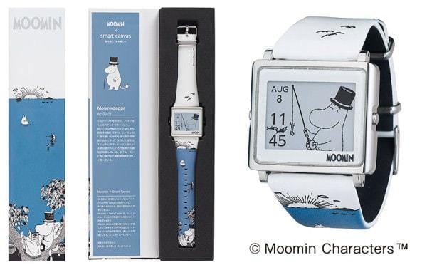 電子ペーパー腕時計「Smart Canvas」に「ムーミンパパ」モデル、トーベ・ヤンソン生誕100周年モデルも