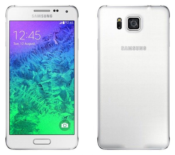 Samsung、デザイン指向の金属フレーム採用 Android スマホ「Galaxy Alpha」発表