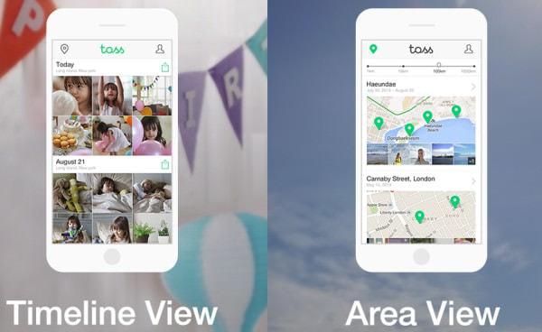 表示方法は「Timeline View」(左)と「Area View」(右)