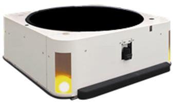 日立、工場や物量倉庫で棚ごと運ぶ自動小型無人搬送車を開発