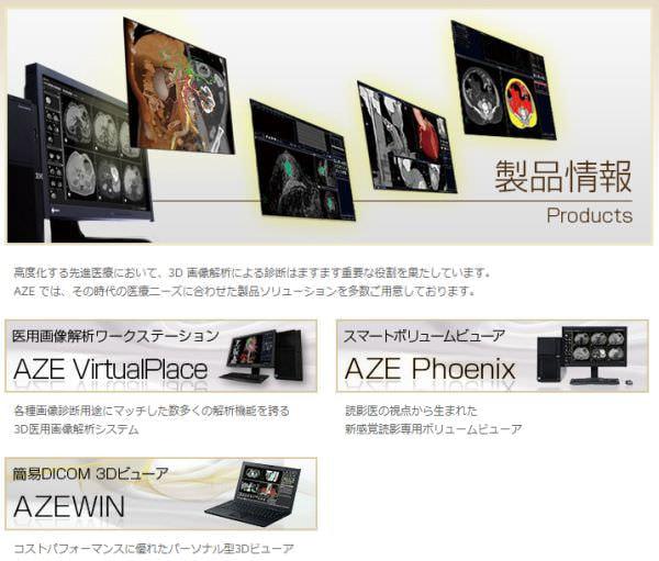 AZE の 各種製品 (出典:AZE)