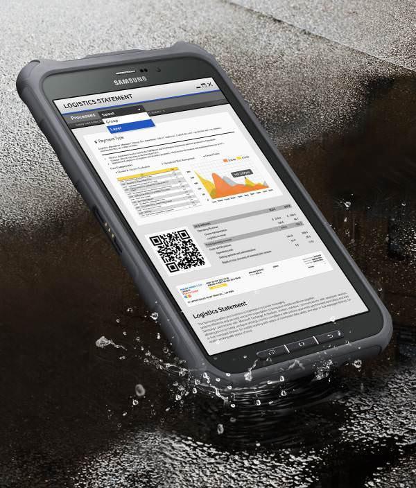 Samsung の新型 Android タブレット「Galaxy Tab Active」、防水防塵で衝撃吸収カバーが付属