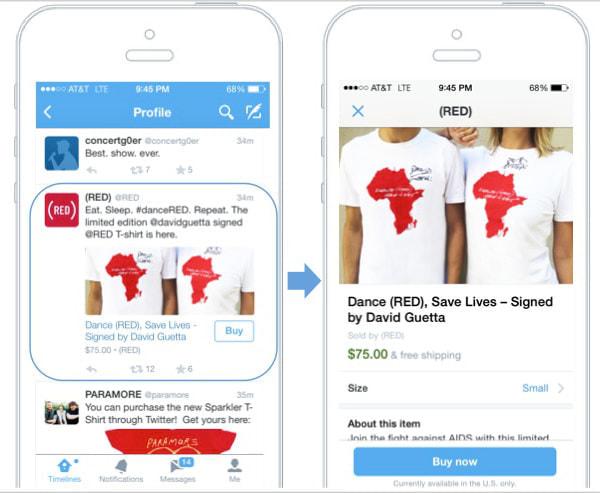 Twitter 上で買い物ができる「Buy」ボタンが登場--まずは試験運用