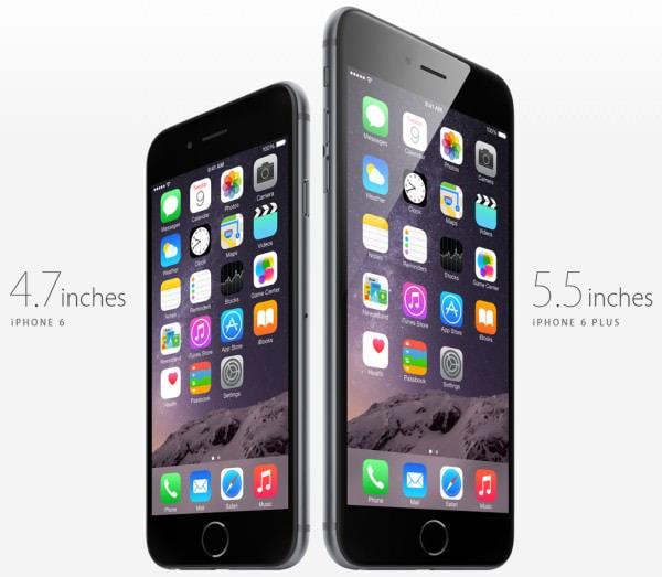 Apple、4.7インチ「iPhone 6」と5.5インチ「iPhone 6 Plus」発表、NFC/VoLTE などに対応