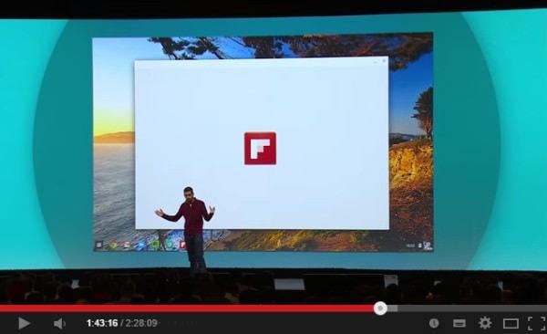 デモでは Flipboard を紹介 (出典:Google)
