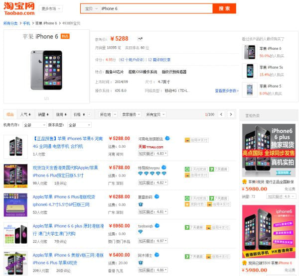 Apple、中国で「iPhone 6」「iPhone 6 Plus」を10月17日発売、転売価格は暴落か?