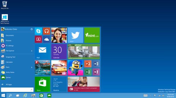 「Windows 10」プレビュー版間もなく公開、日本語サイトも登場