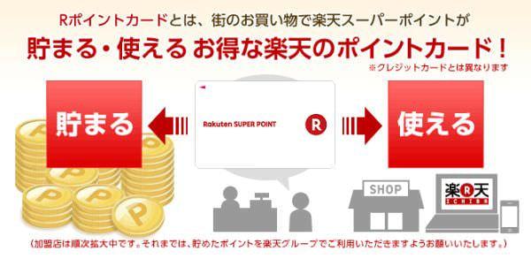 楽天「R ポイントカード」、実店舗で「楽天スーパーポイント」の獲得と利用が可能に