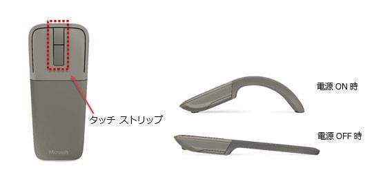 日本マイクロソフト、フラットにして携帯できる Bluetooth マウスを発売