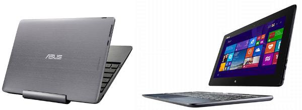 ASUS、メタル天板の10.1型Windows タブレット「TransBook T100TAM」-- キーボード付属で、実売5万9,800円