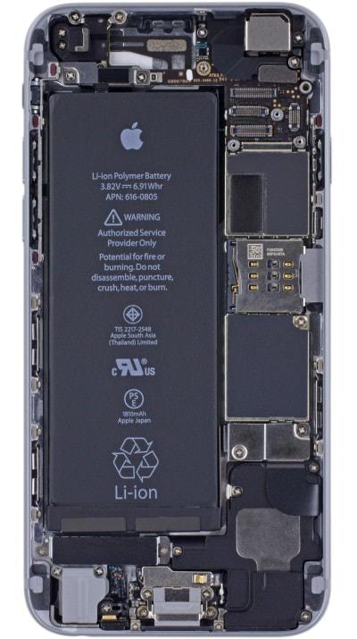"iFixit、「iPhone 6」「iPhone 6 Plus」用の""内部透視""壁紙を公開"