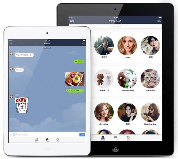 iPad 版「LINE」アプリ登場、スマホ版の補助的な位置づけ