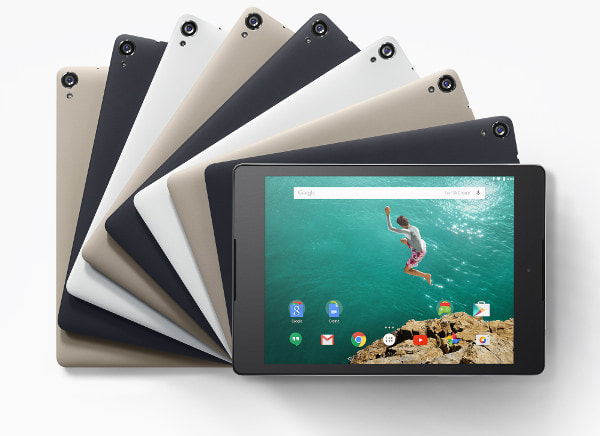 Android 5.0搭載タブレット「Nexus 9」は3.99万円から--「iPad Air 2」より3割安